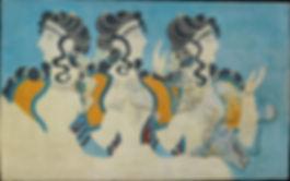 Ladies-in-Blue-Minoan-fresco-excavated-a