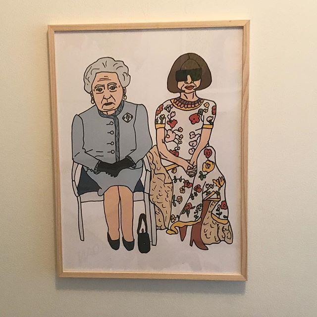 Queen Elizabeth & Anna Wintour/ 2018