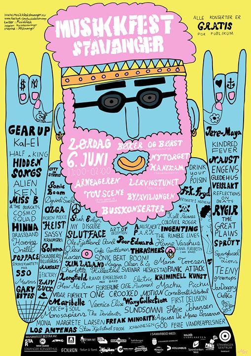 Poster Musikkfest Stavanger / 2015