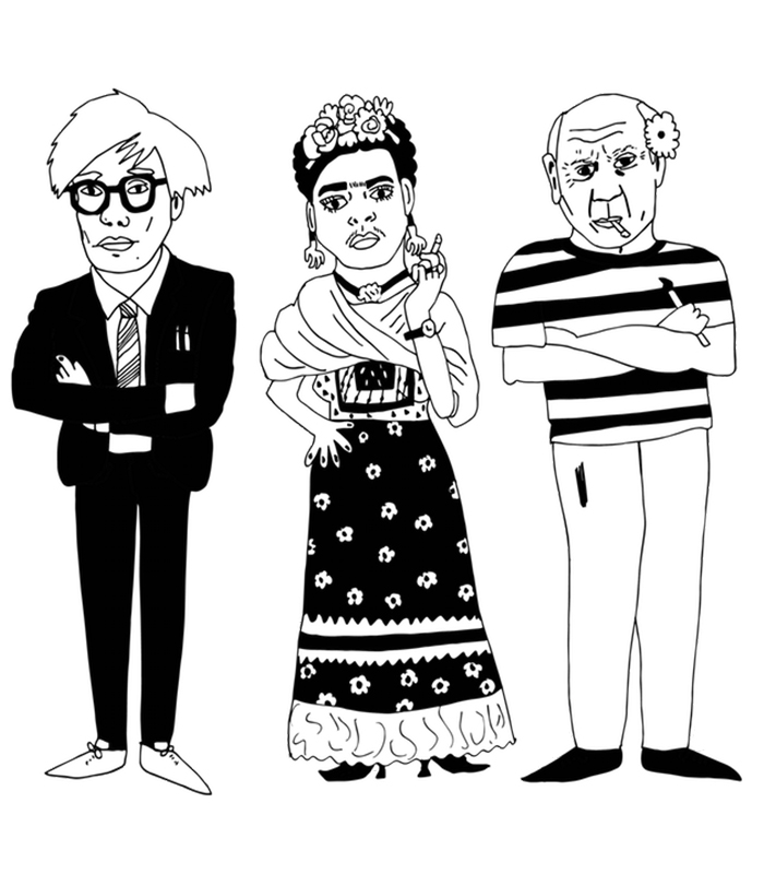 Warhol, Kahlo & Picasso / 2015