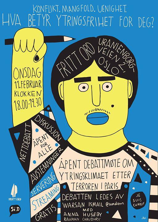 Fritt Ord poster  / 2014