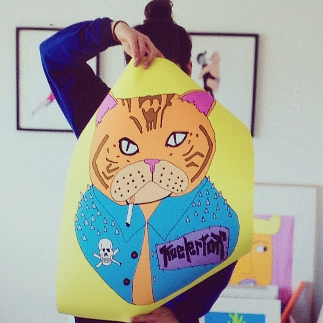 Bad Pussy print  / 2014
