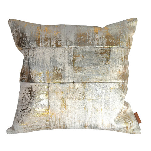 Irregular patchwork cushion