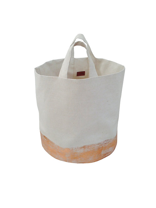 Copper panel canvas laundry bag