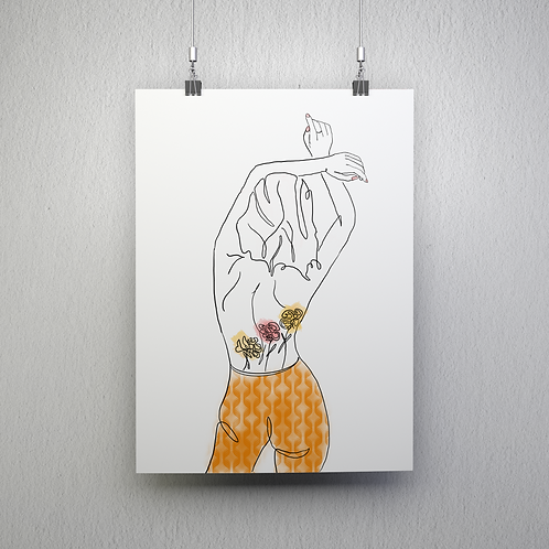 Line Art Poster - Bloom