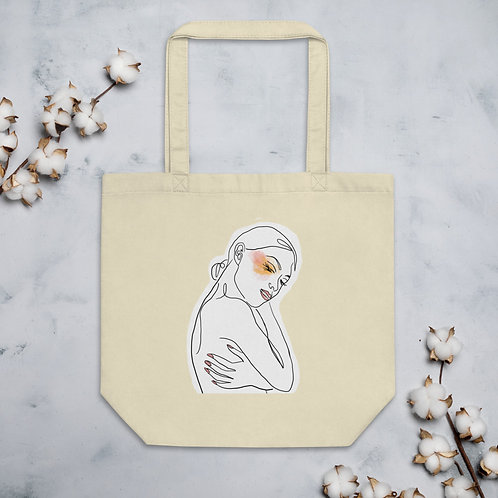 Line Art Tote -  A Little Make-up