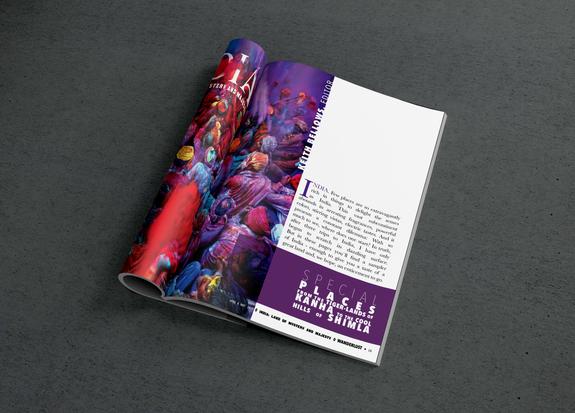 India Travel Magazine Spread
