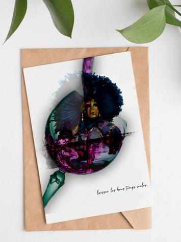 Mardis Gras Greeting Card