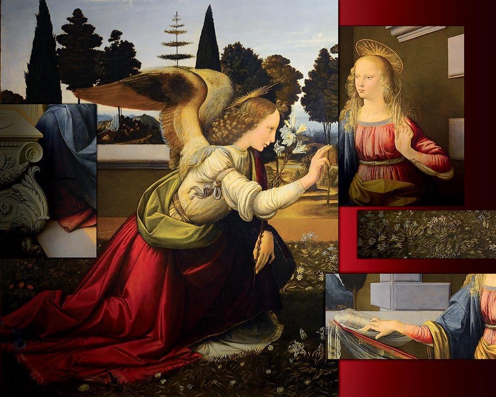 Omaggio all'Annunciazione di Leonardo Da Vinci realizzata da Tiziana Befani