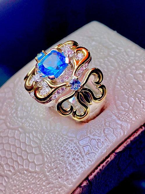7mm Swiss topaz filligree ring
