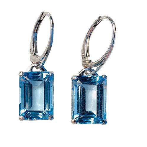 Blue Topaz 10/14 Earrings