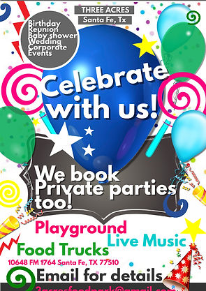 book private event, birthday party, outdoor venue, food trucks, family reunion, coorporate events