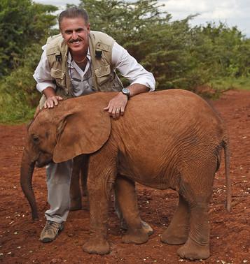 Ron & Orphan Ellie in Kenya