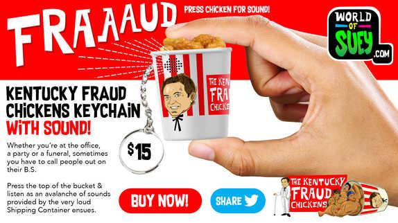 KFC bucket keychain