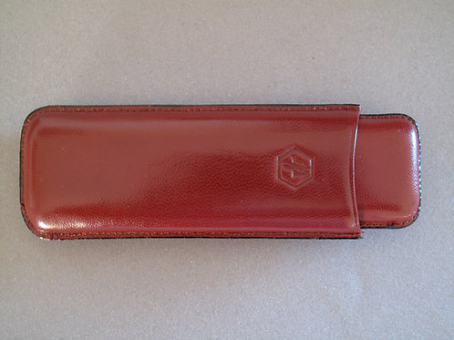 WATERMAN LEATHER 2 LARGE PEN CASE CIGAR STYLE