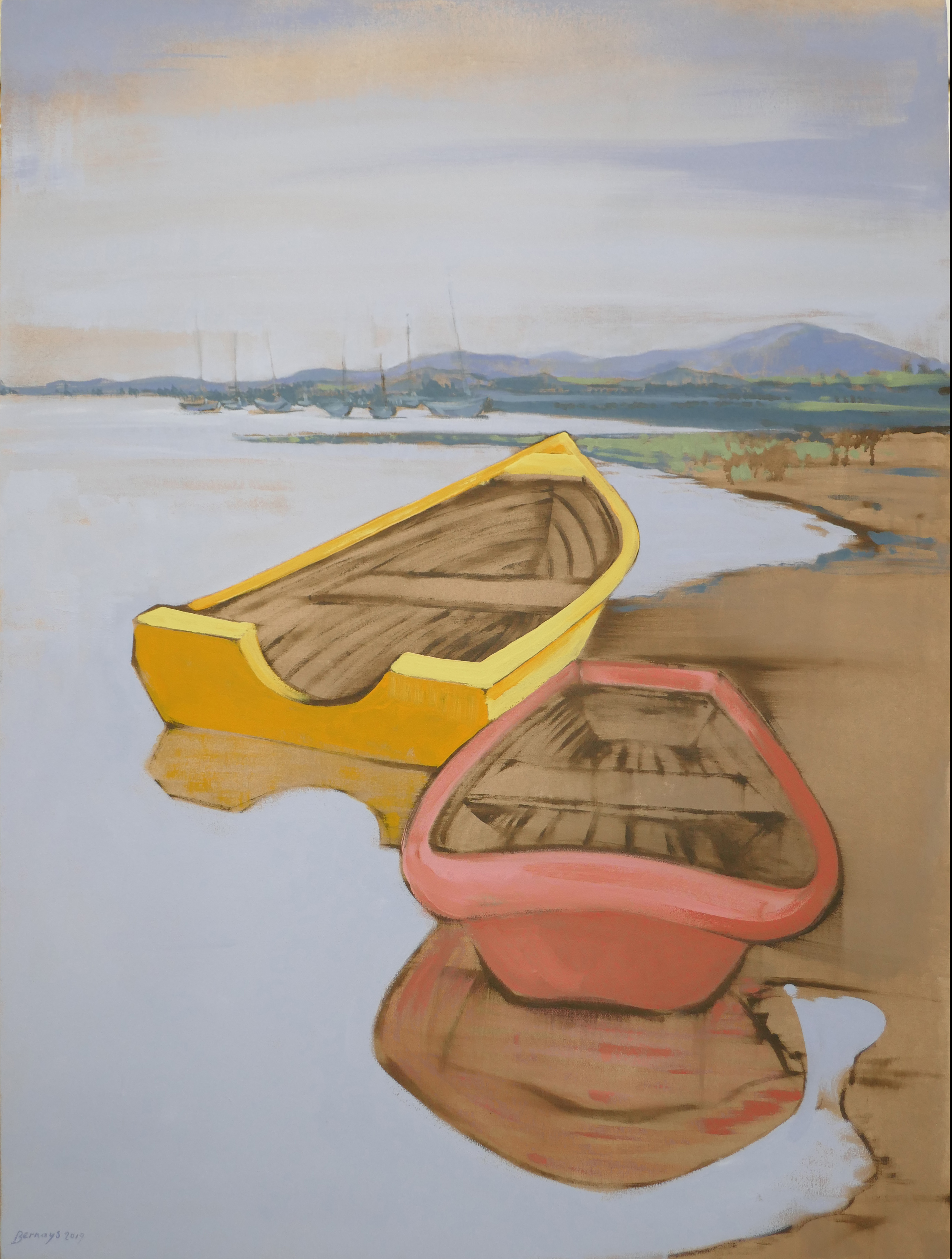 yellow boat three 36x48 bernays.jpg