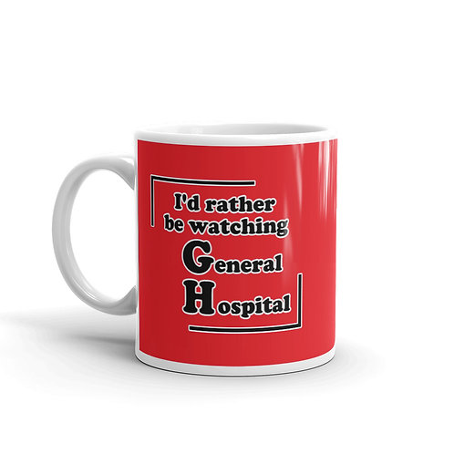 I'd Rather Watching GH Mug - Red