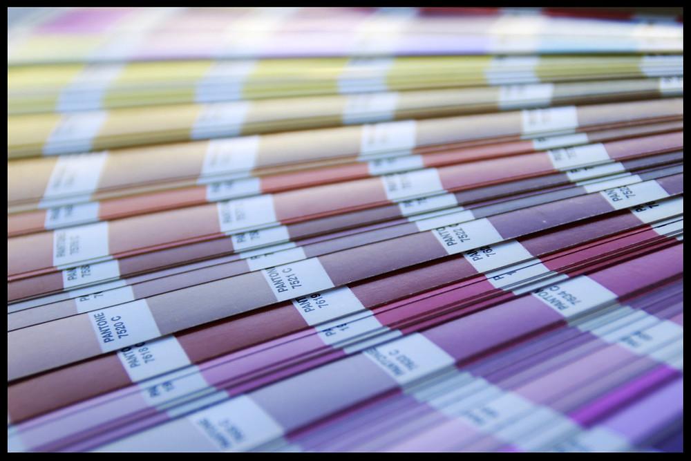 Pantone color spread