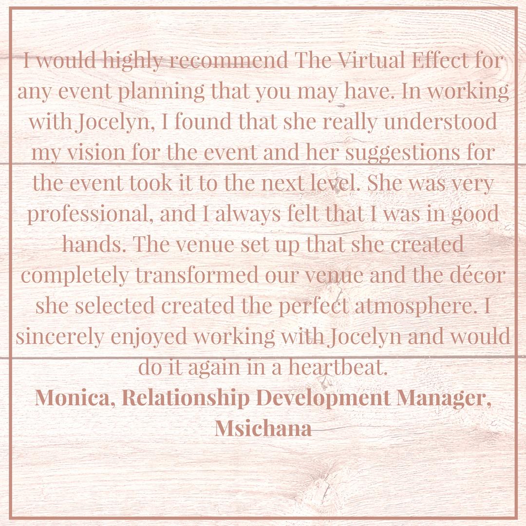 Monica Testimonial
