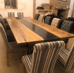 14 seater Oak River table