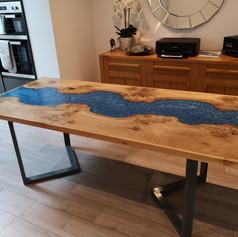 Framed oak River table