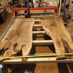 Selecting some English walnut boards