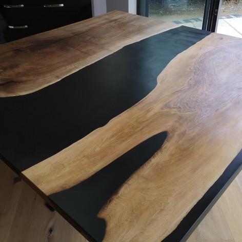English walnut River tables