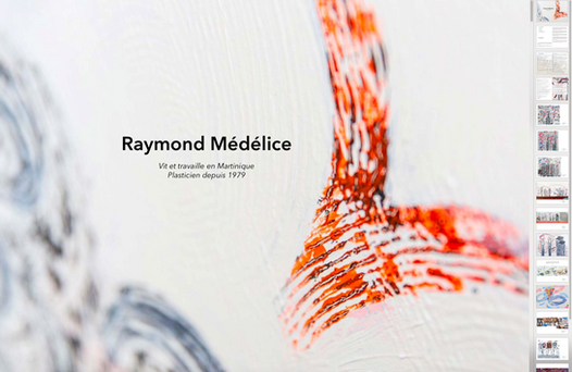 Création catalogue Raymond Médélice Web, Art & Bio
