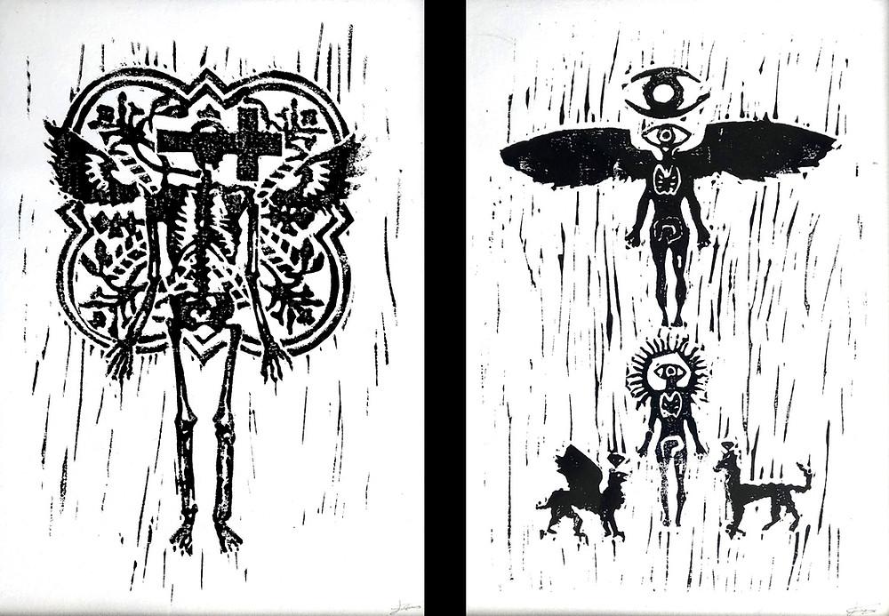Linogravures de Jérémie Priam