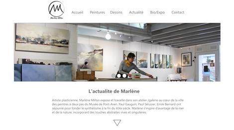Création de maquette du site Web, Art & Bio
