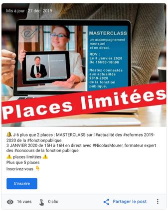 Création de post Google My Business