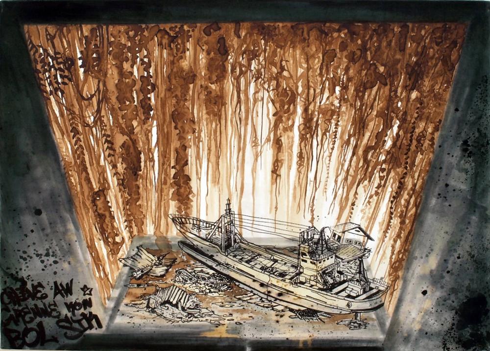 KON BOL SIK - Oeuvre de Mathieu Guerard