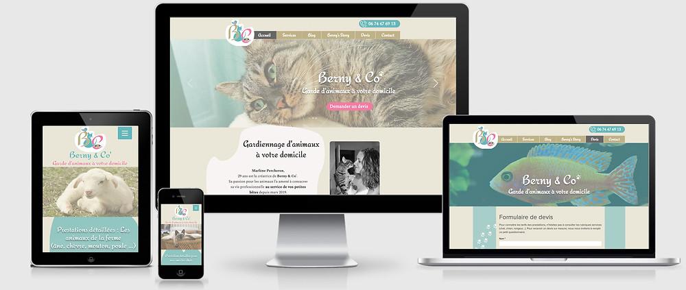 Berny & Co' Site web responsive design crée par Web, Art & Bio