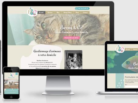 Web, Art & Bio a créé un site web sur mesure pour Berny & Co !