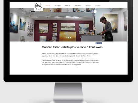 Un nouveau site Web pour une artiste pleine de talent.
