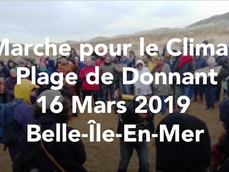 """Le 16 mars 2019, la manifestation pour le climat appelé""""La marche du siècle"""": à Belle-île-en-mer"""