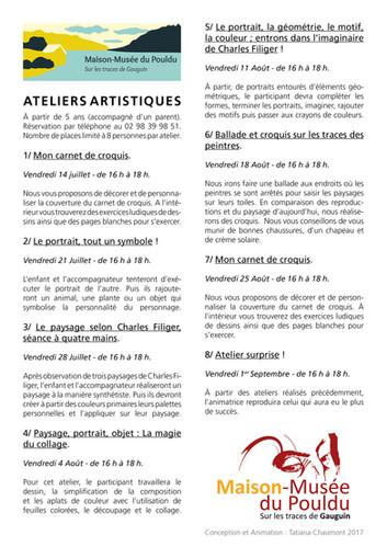 Tatiana Chaumont - Web, Art & Bio - Commande Support Maison Musée du Pouldu