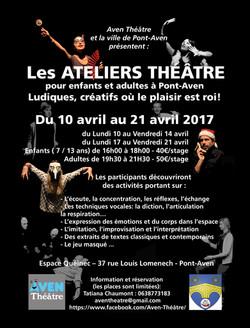 Affiche Aven Théâtre 2017