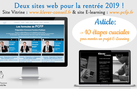 10 étapes de création d'un site web E-Learning : préparation-concours-fonction-publique.fr