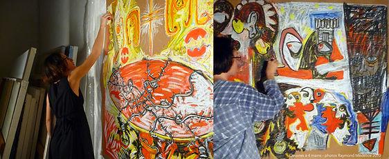 Photos de Raymond Médélice - Travail à quatre mains avec Raymond Médélice & Tatiana Chaumont - 2009