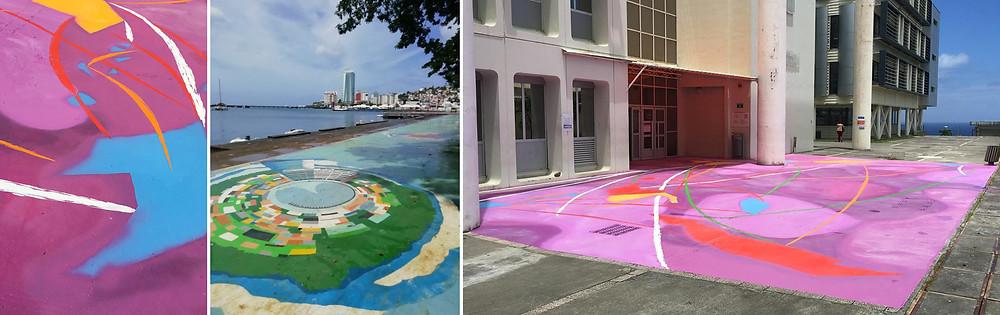 Fresques - Street Art -Oeuvres collectives sous la direction d'Henri Tauliaut - 2018 - Martinique