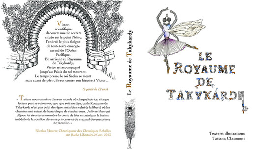 Tatiana Chaumont - Web, Art & Bio - exemple de maquette d'ouvrage - Le Royaume de Takykardy