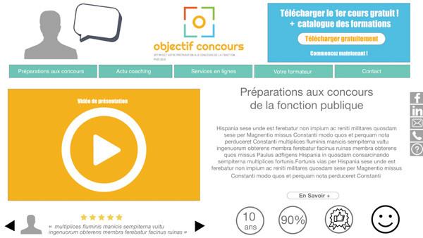 Tatiana Chaumont - Web,art & bio - Zoning interactif pour un site web e-learning