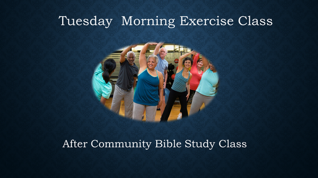 Tuesday Morning Exercise Class