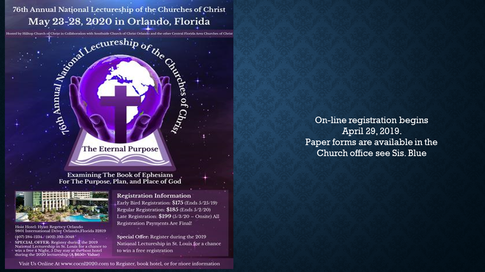 76th Annual National Lectureship
