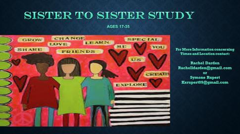 Sister to Sister Bible Study