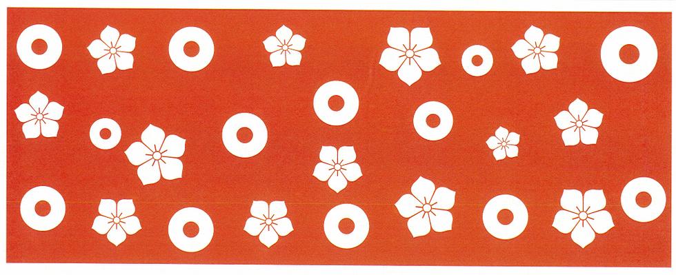 和手ぬぐい 蛇の目桔梗紋.bmp