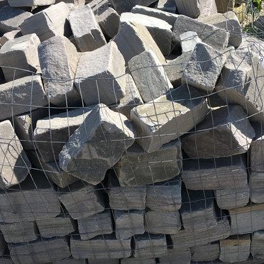 Tumbled stone Pavers (Grey)