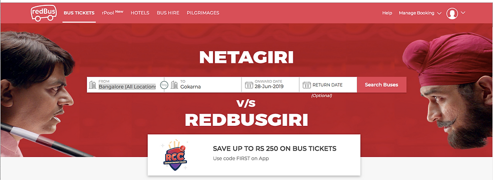 redbus bus booking app india