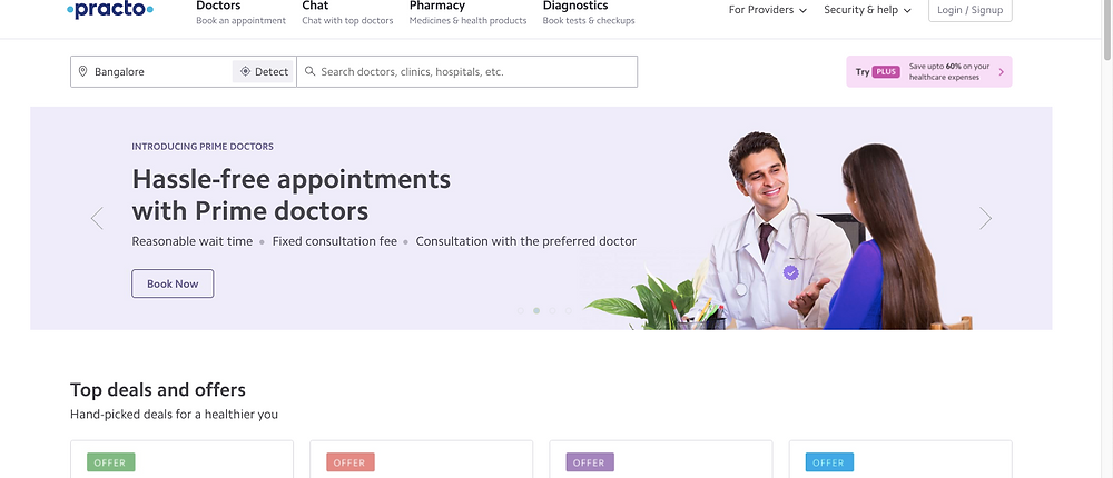 practo doctor booking appointment india